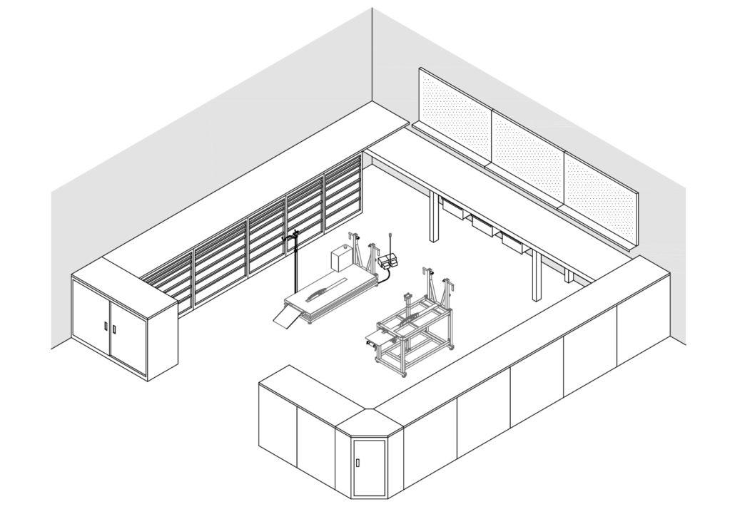 Esempio di allestimenti completi per negozi e officine del for Arredo stand area